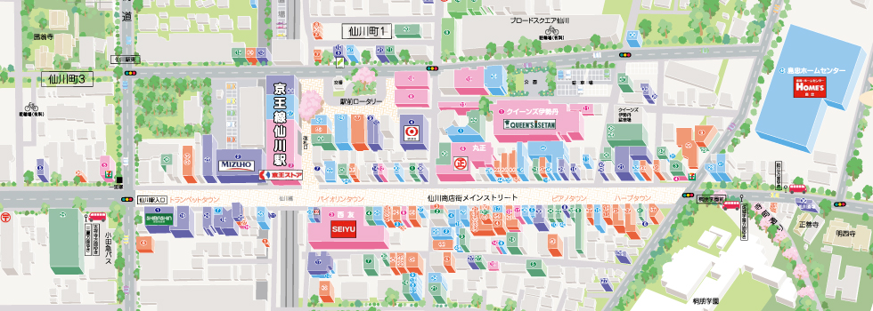 仙川周辺エリアマップ
